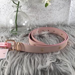 🆕 Juicy Couture Pink Belt with Gold Hearts